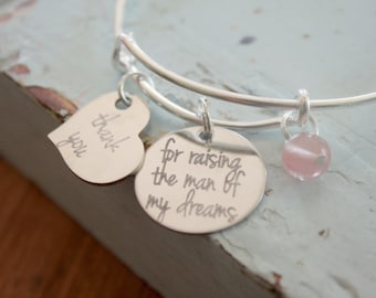 Mother of The Groom Gift , Thank You For Raising The Man Of My Dreams, Wedding Party Gift, Mother In Law Gift