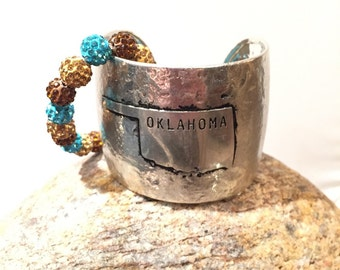 Oklahoma cuff silver or gold