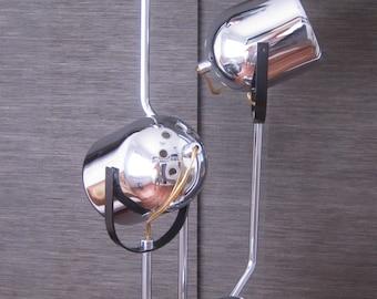 1960's Goffredo Reggiani 4 light chrome floor lamp