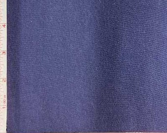 Navy 1X1 Baby Rib Fabric 2 Way Stretch Combed Ring Spun, CPRS Cotton 9 Oz 58-60""
