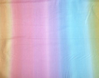 Fabric - Ombre printed cotton fabric - Pastel rainbow.
