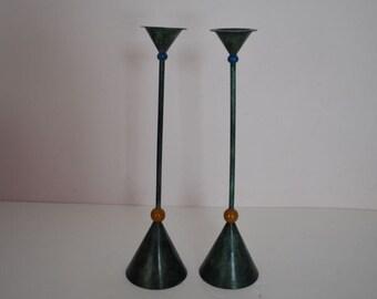 Vintage Pair of Milano Candlesticks