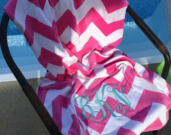 monogrammed towel, monogrammed beach towel, personalized towel, personalized beach towel