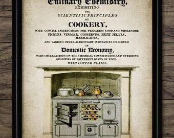 Vintage Cooking Print - Cookery - Vintage Range Cooker - Vintage Cooker Illustration - Single Print #1096 - INSTANT DOWNLOAD