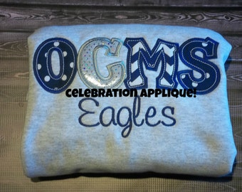 Personalized Sweatshirt, Applique Sweatshirt, Team Sweatshirt, Team Shirt, School Shirt, Custom Sweatshirt, School Sweatshirt