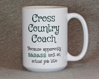 cross country coach mug, large coffee mug for cross country coach, gift for CC coach, XC mug, CC mug, cross country mug, funny graphic mug