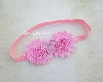 Minnie mouse headband. Pink headband. Minnie mouse birthday. Minnie headband. Pink Minnie Mouse Birthday. Girls headbands. Kids headbands