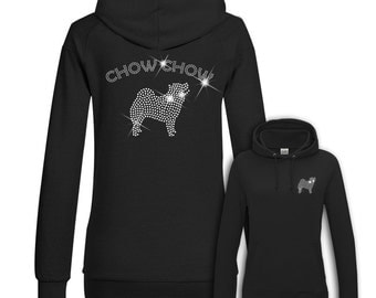 Ladies Hoodie Strass Chow Chow