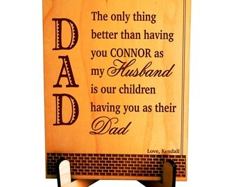 Custom Fathers'Day Gift from Wife to Husband,Gift to my Husband on Fathers day,Dad and Hubby Appreciation Gift,Gift to the Father of my Kids