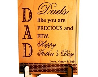 Wooden Plaque Gift for Dad, Custom Father's Day Gift from Daughter, Dad Appreciation Gift from Son, Thank You Gift to Dad, Gift for Daddy,