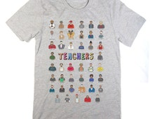Daft Punk's Teachers Grey T-Shirt (featuring house music, techno, ghetto-tech and other musical pioneers)