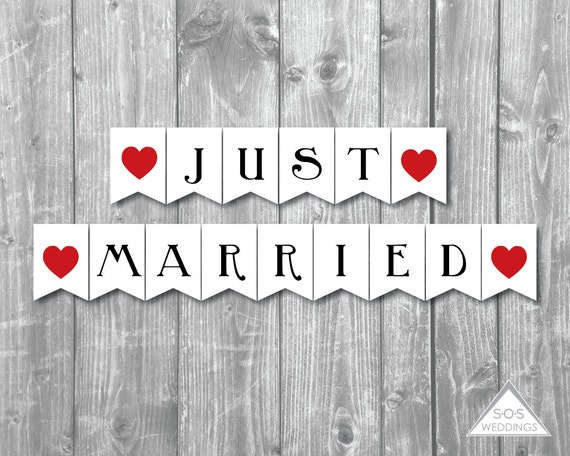 Picture suggestion for Just Married Sign Printable