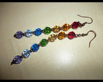 Colorful Swarovski earrings