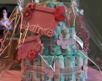 Customizable diaper cakes