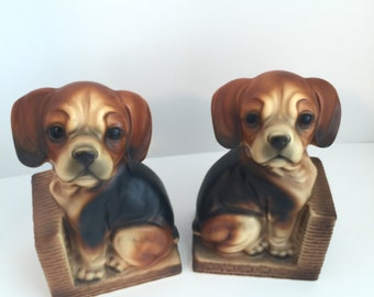 Adorable Puppy Bookends