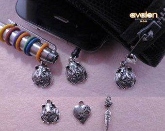 Guinea pig charm accessories gift set (pen charm, phone charm and zip pull).