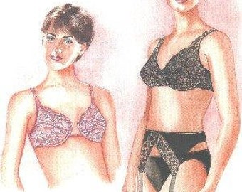 EziSew 103 underwire bra and garter belt pattern