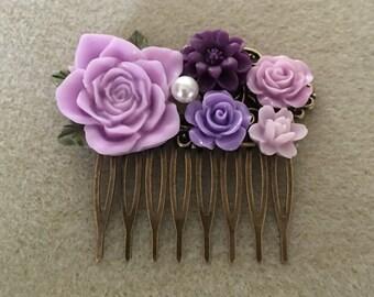 Rose Flower Comb
