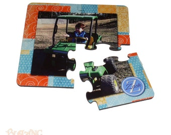 Personalized 4 piece Puzzle Coaster Set - Perfect for your home or as a gift! - #U5795