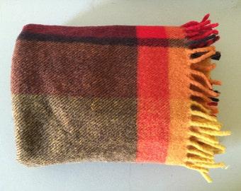 Vintage Onkaparinga Small Wool Blanket Knee Rug Throw Australia