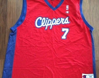 """Vintage Champion Clippers """"ODOM"""" jersey"""