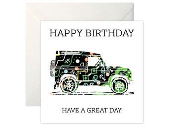 Landrover Defender Birthday Card