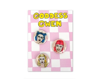 Goddess Gwen Buttons