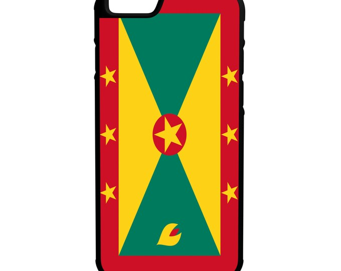 Flag of Grenada iPhone Galaxy Note LG HTC Hybrid Rubber Protective Case