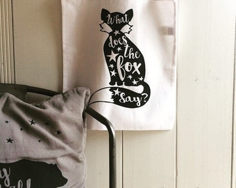 What Does The Fox Say? Quote | Totebag | Bag | White