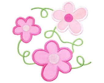 Flower Vines Applique Machine Embroidery Design