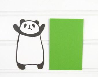 Panda Card, Mini Gift Tag, Panda Gift Enclosure, Mini Cards, Mini Envelope, Cute Panda, Gift Card Envelope, Mini Place Card, Lunch Box Notes