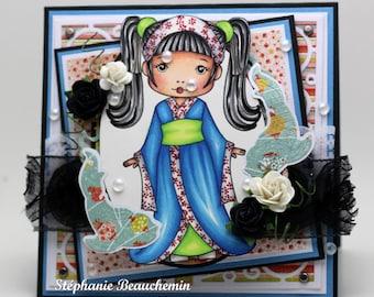 Kimono girl Card