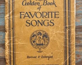 1923 Golden Book of Favorite Songs
