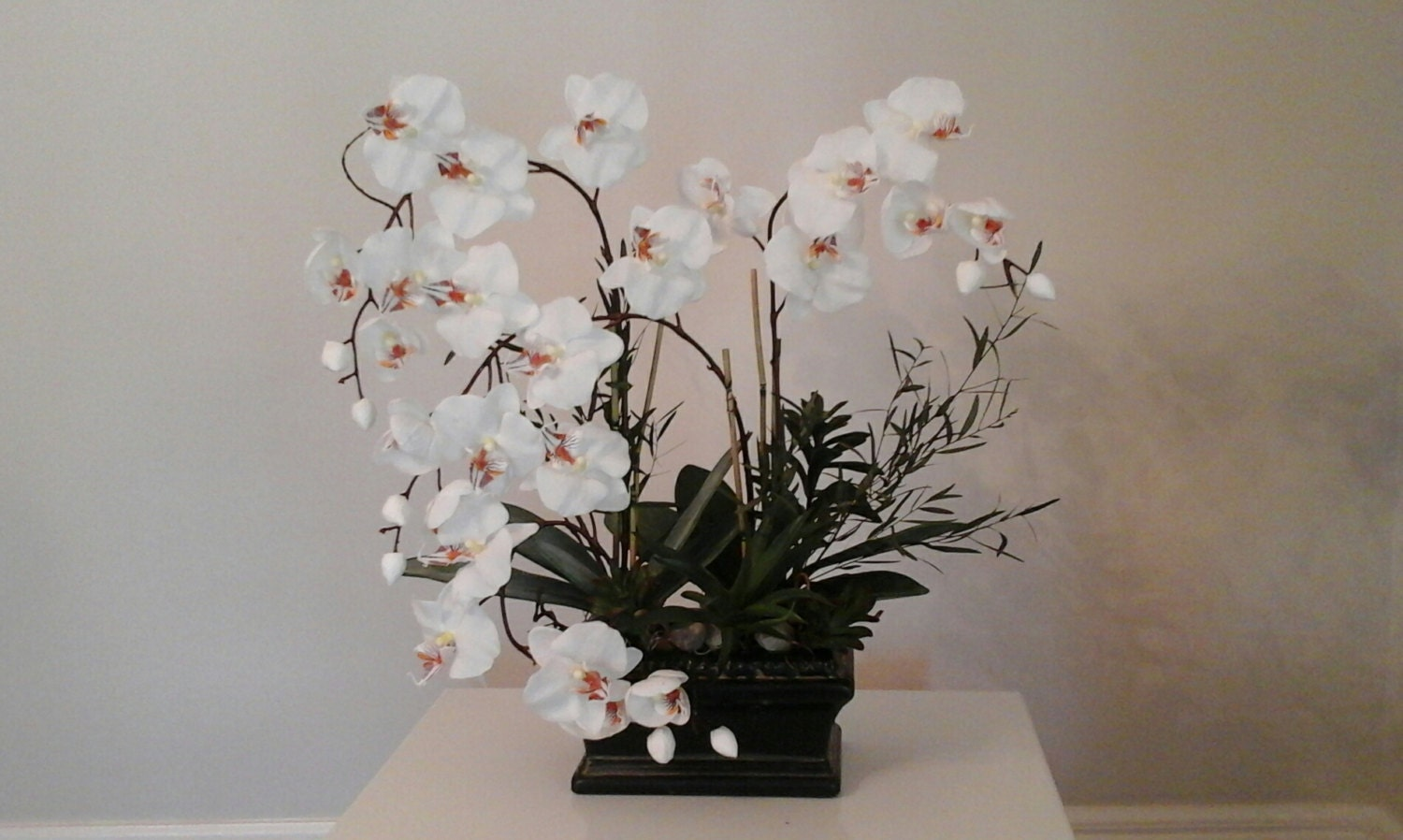 orchid arrangement silk floral