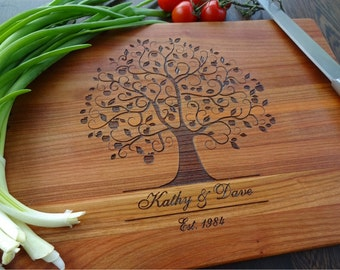 Personalized  Cutting Board. Couple cutting board. Custom Lazer engraved. Wedding gift, Mother's Day gift, Father's Day gift, anniversary