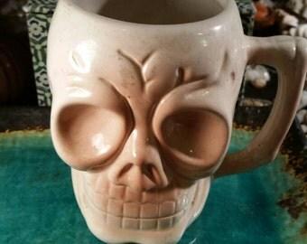 OOAK skull mug