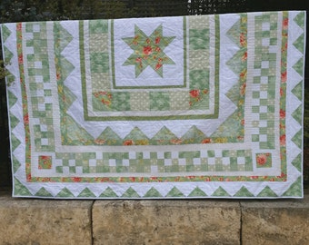 Handmade Queen size quilt / bedspread. (Can be custom colours/size)