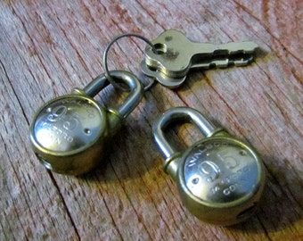 Set of Two 1930's Walsco 95 Locks with Keys