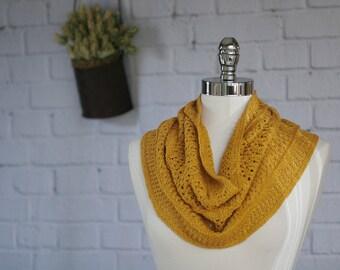 Mustard yellow Linen/Pima Cotton Cowl