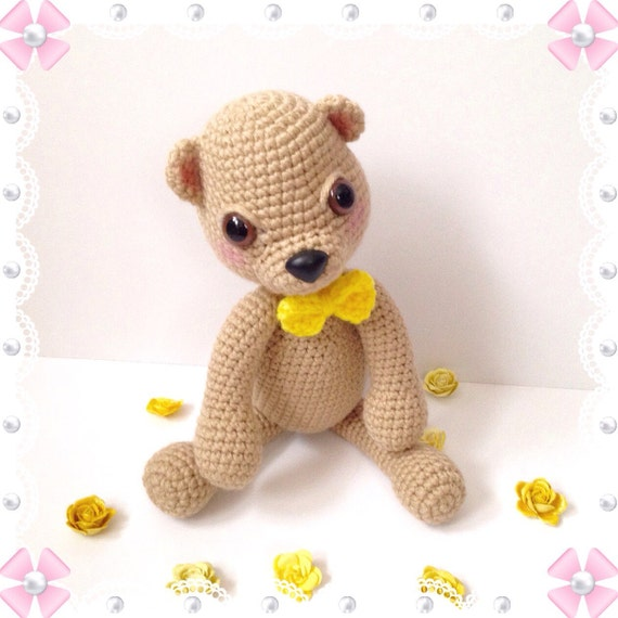 Amigurumi Baby Shower Bears : Amigurumi Bear Amigurumi Teddy Bear Crochet Bear by ...