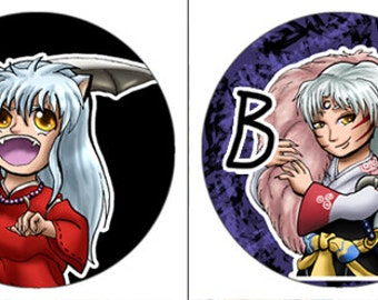Inuyasha Buttons - Set or Individual