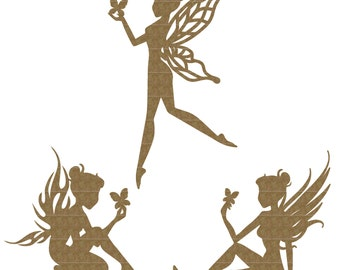 Fairy Trio Laser Cut Chipboard FREE SHIPPING! in US and Canada