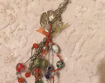 So chic and charming handmade keychain.