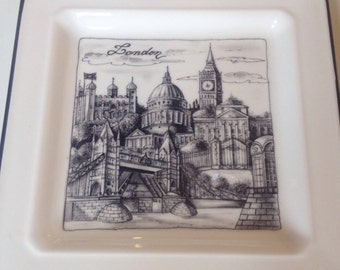 London plate made in Italy