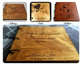 Custom 12x12 Hand Engraved Wood Album, Scrap Book, Wedding Guest Book - Custom made with your images and quotes - Personalized your way