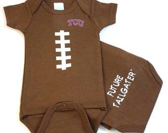 Texas Christian TCU Future Tailgater Football Baby Bodysuit