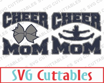 Cheer Mom SVG, DXF, EPS, Cheer Vector, Cheer Bow, Cheerleader, Digital Cut File