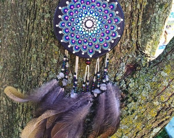 Clear Quartz Dreamcatcher Mandala