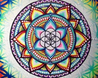Seed of Life Sacred Geometry Mandala Print