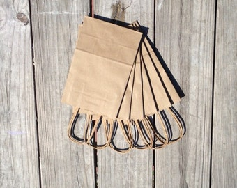 "20 Pack - Kraft Paper Handle Bags (5.25""x 3.25"" x 8.375"")"